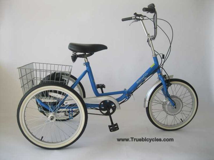 True Bicycle Fold And Go Electric Folding Trike From