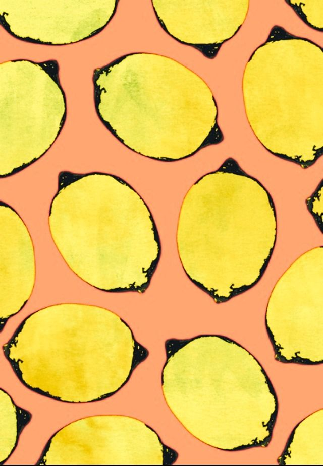 could be a cool printmaking lesson. Cut lemons in half long way, dip in black paint, print onto colored paper, then paint in lemons.