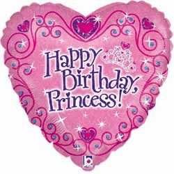 Happy Birthday Princess Balloon with National UK Delivery only £9.95 Boxed