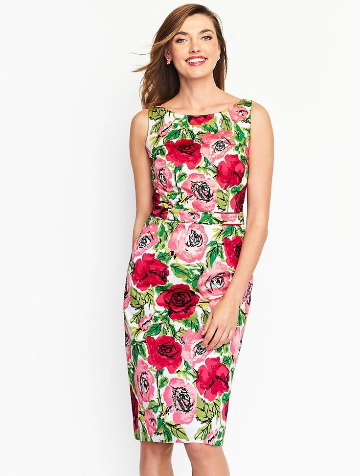 17 best images about pattern play dresses on pinterest for Talbots dresses for weddings
