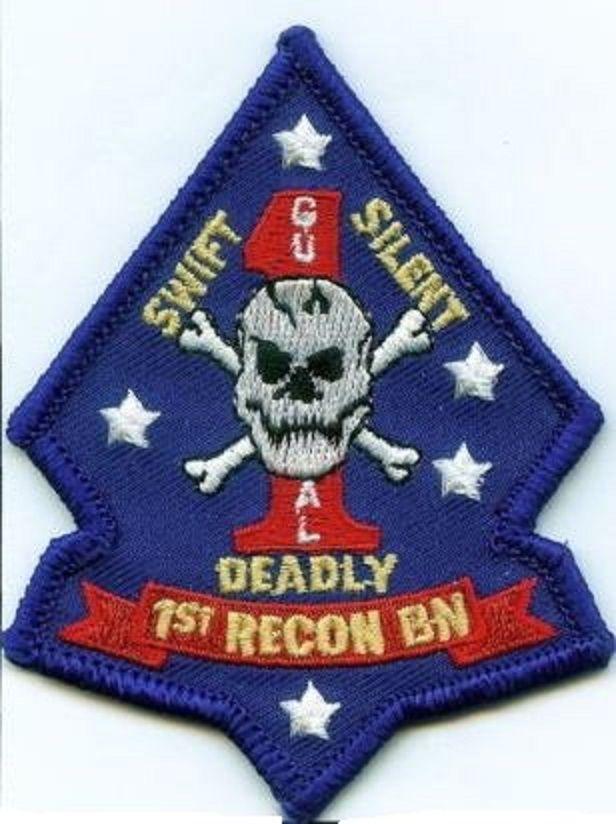 USMC 1st Recon Bn color PATCH diamond NEW 1st Reconnaissance Battalion ! Marines