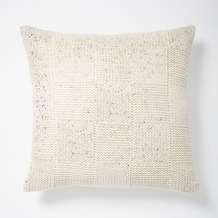Gilded Square Textured Cushion Cover - Ivory/Silver