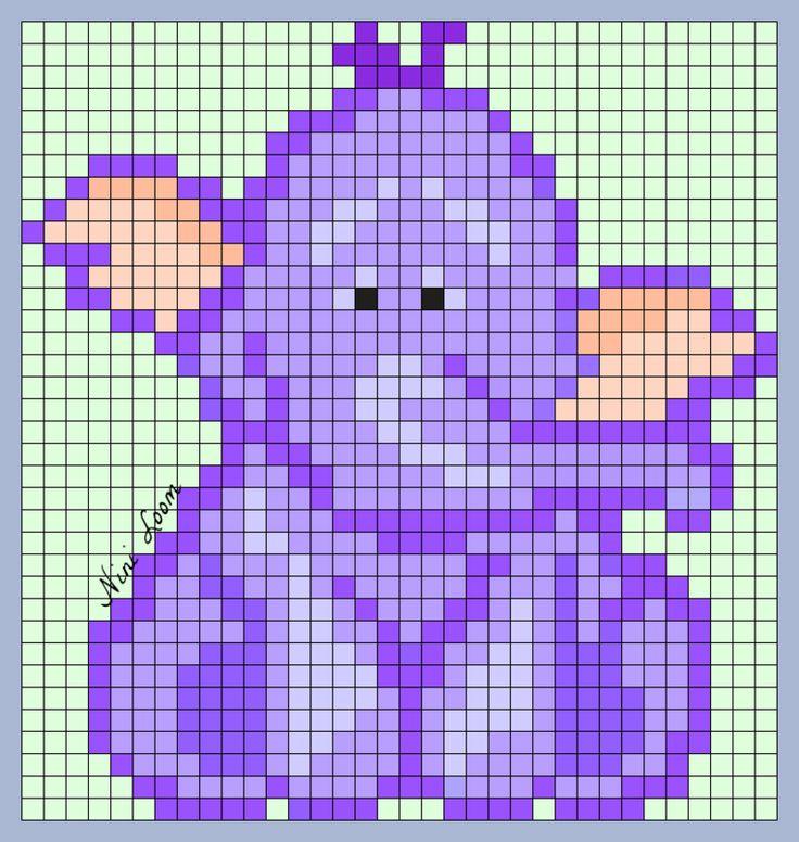 Heffalump Perler Bead Pattern