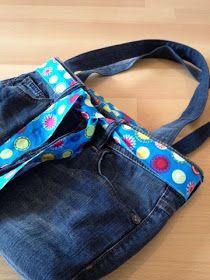 Tasche mit Reißverschluß aus Jeans - Tutorial
