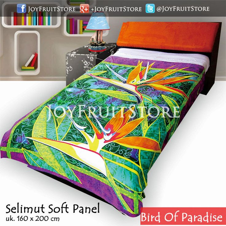 selimut bulu lembut halus (soft panel) bird of paradise joyfruitstore.com pin bbm 74258162, wechat joyfruitbedcover, whatsapp 081931151596