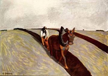 The Ploughman Artwork by Auguste Chabaud