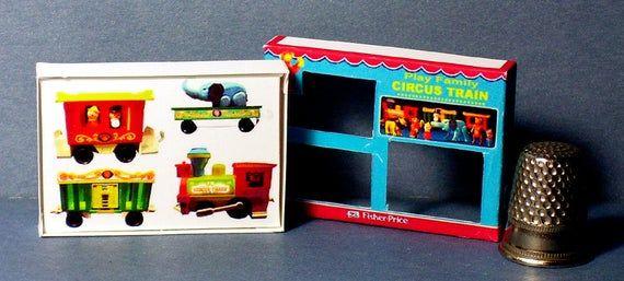 Dollhouse nursery Dollhouse Miniature 1:12 Fisher Price Play Family Farm Box