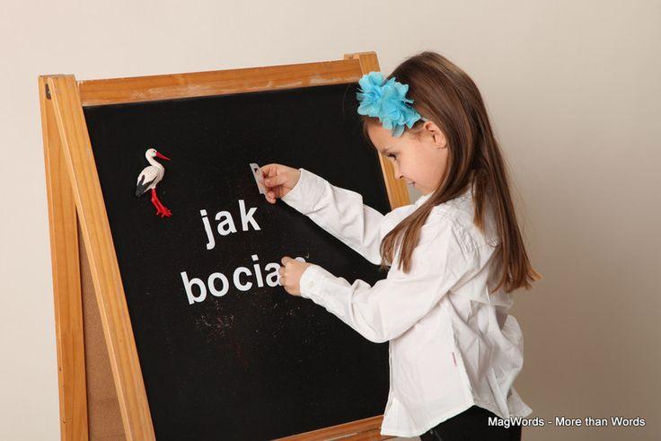 Białe Magnesy/Literki Magnetyczne #dlaDzieci 45pcs w MagWords - More than Words na DaWanda.com #letters #buchstaben #alphabet #alfabeto #alfabet