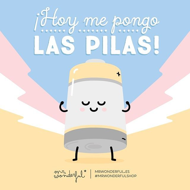 Qué se note que estamos a tope de energía! Today my batteries are fully charged! #mrwonderfulshop #quotes #energy