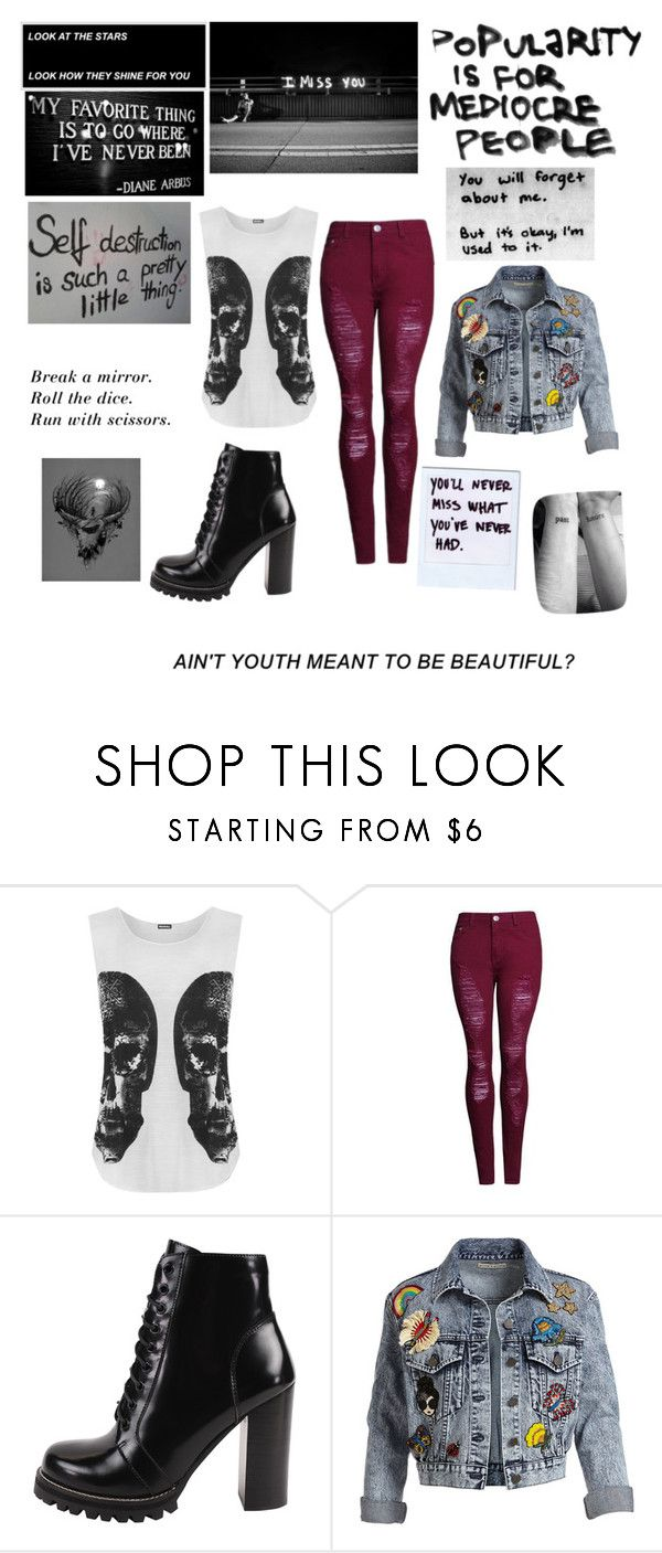 """""""The risk taker, rule breaker, dream maker, with a future"""" by frizzynorse ❤ liked on Polyvore featuring WearAll, Jeffrey Campbell and Alice + Olivia"""