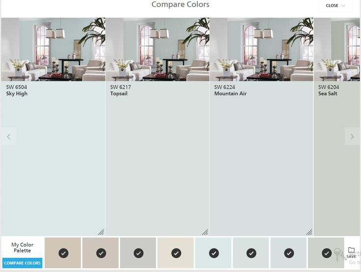 Sherwin Williams Colorsnap Compare Colors Sky High Top