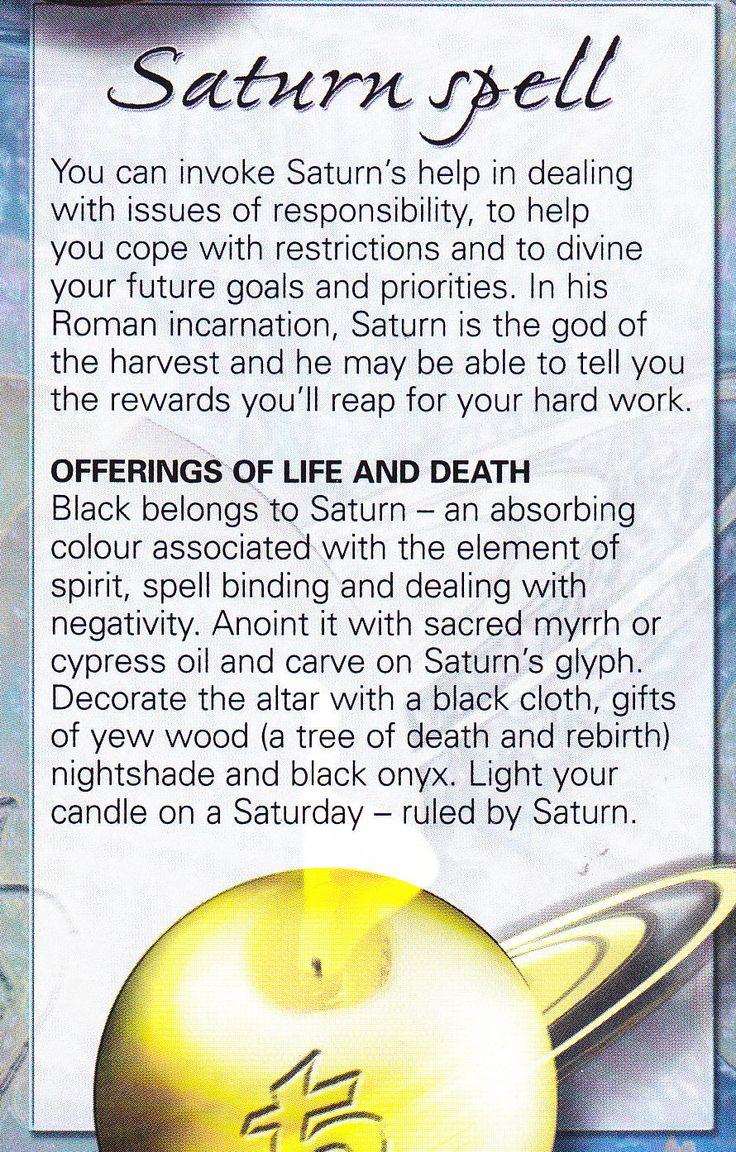 Magick Spells:  Saturn #Spell.