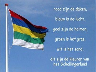 Vlag Terschelling, de kleuren van het Schellingerland...