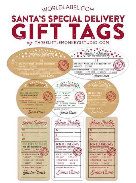 Santa's Special Delivery Gift Tags FREE Printable by Gretchen of @3littlemonkeys via @worldlabel