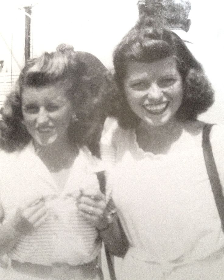 Kick with younger sister, Eunice, Circa 1946, two years before Kick's death.