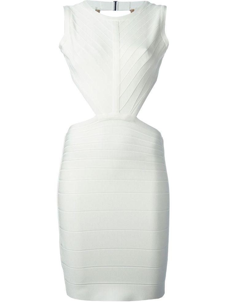 Hervé Léger Fitted Backless Dress - Julian Fashion - Farfetch.com