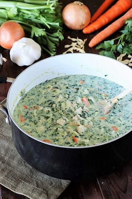 Creamy Turkey Soup with Spinach