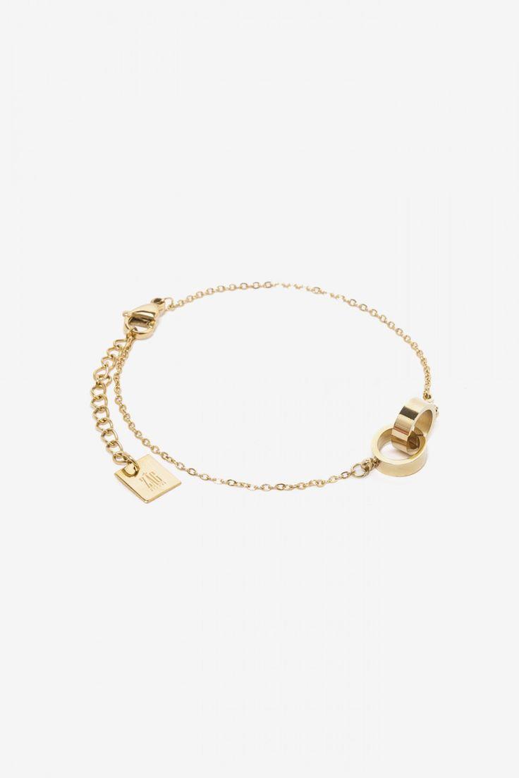 Zag Bijoux armband cirkels goud | Fashion Webshop LOAVIES