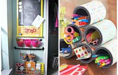 Бюджетные идеи уголков для детского творчества. Фото