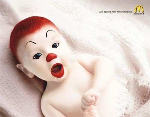 Baby Ronald    Advertising Agency: Leo Burnett, New Delhi, India  Art Director/Illustrator: Sumonto Ghosh  Published: N/A