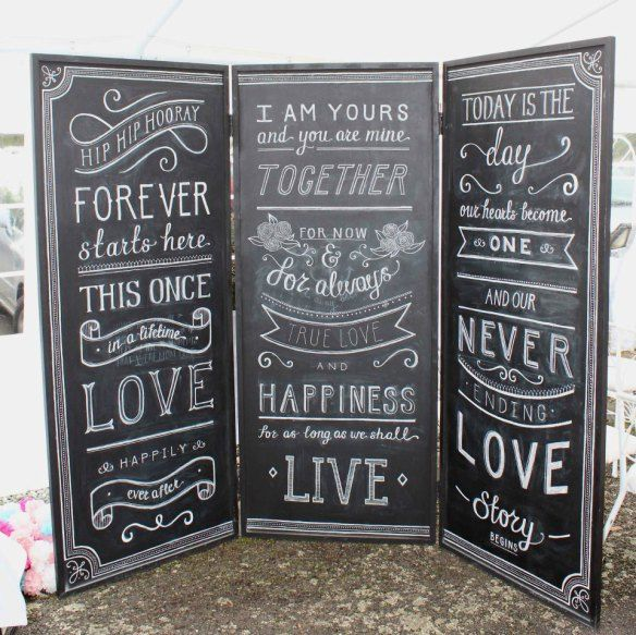 Interview With Renee Calder Designs Artist Behind The Massive Chalkboard Photo Booth