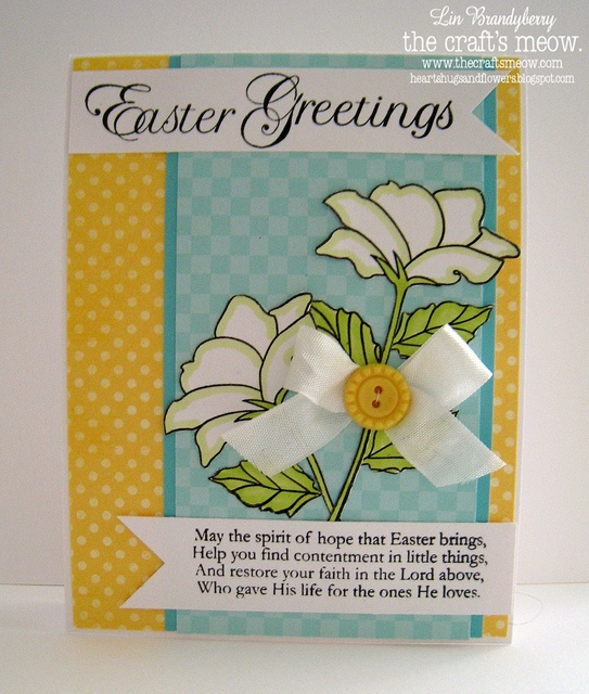 Easter Greetings by quilterlin, via Flickr also Easter Blessings