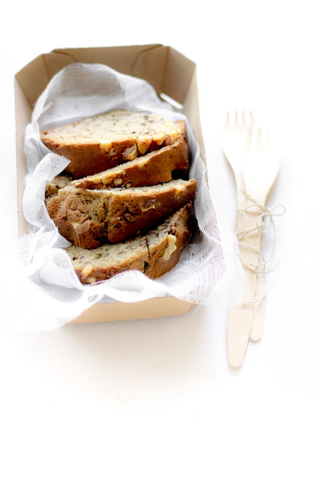 fat-free banana bread (2 bananas, milk, eggs)