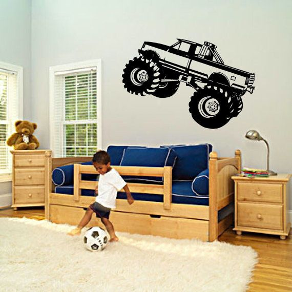 Monster Truck Boys Bedroom Nursery Kids By HeritageSignandPrint, $8.95