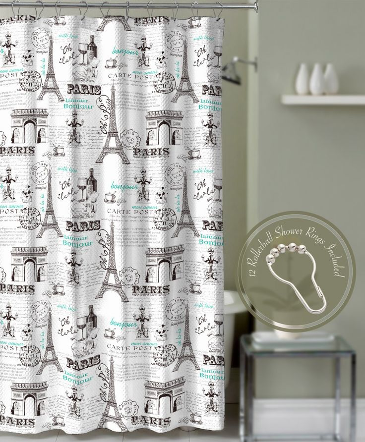 crest home design curtains. Crest Home Bonjour Paris Eiffel Tower Shower Curtain Teal with Roller Ball  Hooks Best 25 home curtains ideas on Pinterest for