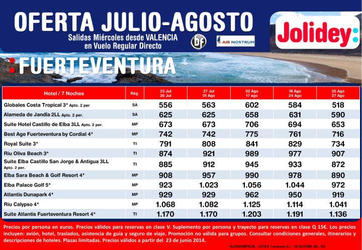 Oferta Fuerteventura julio-agosto, Salidas Miércoles desde Valencia Cía Air Nostrum desde 518€ ultimo minuto - http://zocotours.com/oferta-fuerteventura-julio-agosto-salidas-miercoles-desde-valencia-cia-air-nostrum-desde-518e-ultimo-minuto/