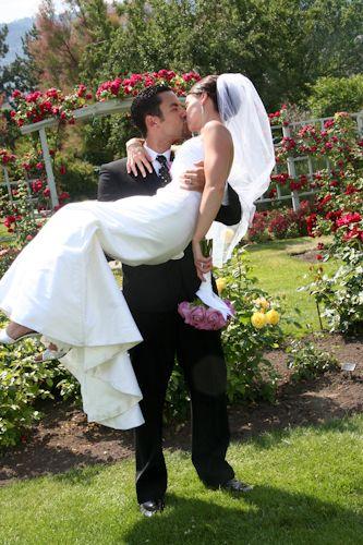 Penticton Rose Garden Wedding Ceremony