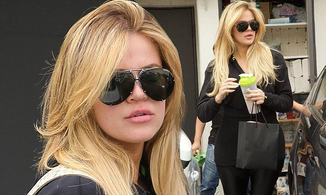 Khloe Kardashian shows off bright blonde hair after 5 hours at salon