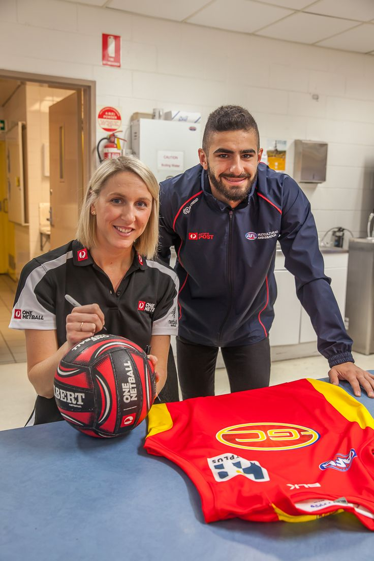 Australia Post & StarTrack staff at the Underwood and Tullamarine delivery facilities were visited by AFL Multicultural Ambassadors Lin Jong of the Western Bulldogs and Adam Saad of the Gold Coast Suns and One Netball Ambassador Clare McMeniman as part the 2016 Toyota AFL Multicultural Round. They shared their personal stories of how their sport participation has helped them and their families to build stronger ties within the Australian community. Learn more: http://auspo.st/1I78lc7