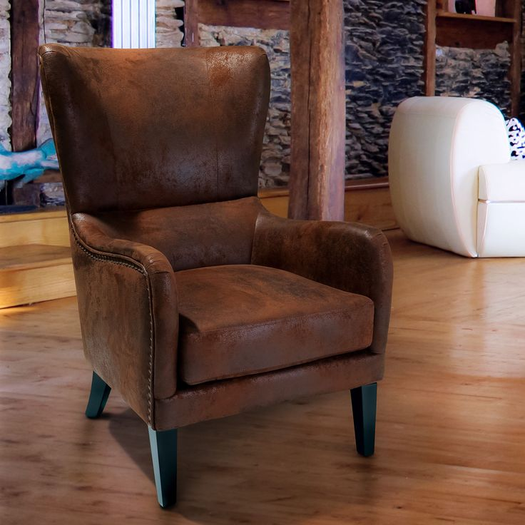 Lorenzo Fabric Studded Club Chair by Christopher