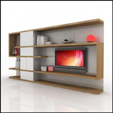 modern tv wall unit - Media Wall Design