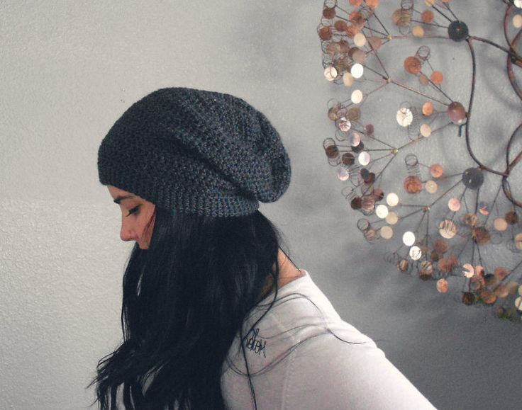unisex slouch beanie. eco friendly. vegan. PICK by saltcitydesign