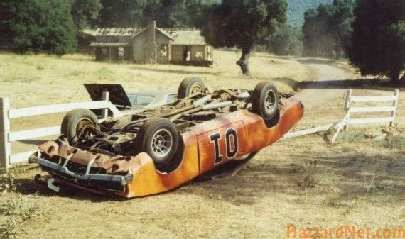 Image result for dukes of hazzard general crashing