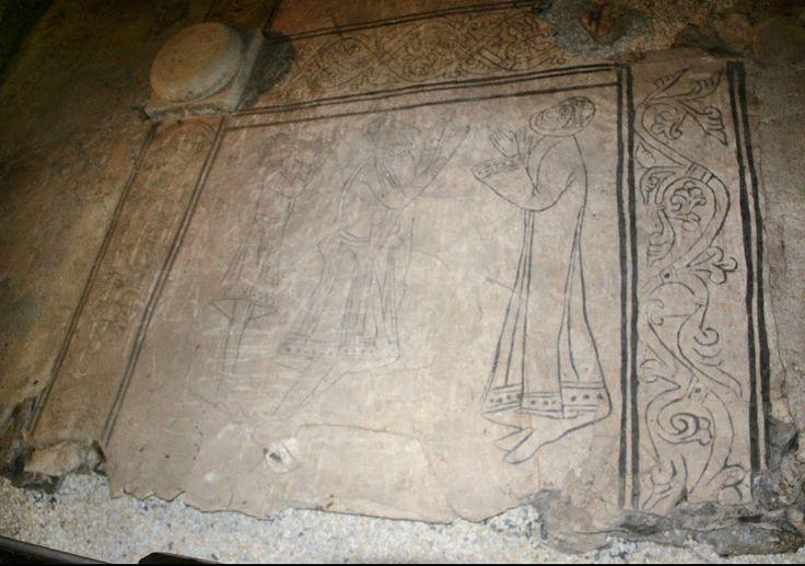 Wiślica, posadzka w krypcie, 1. ćwierć XII w. — kolegiata w Wiślicy