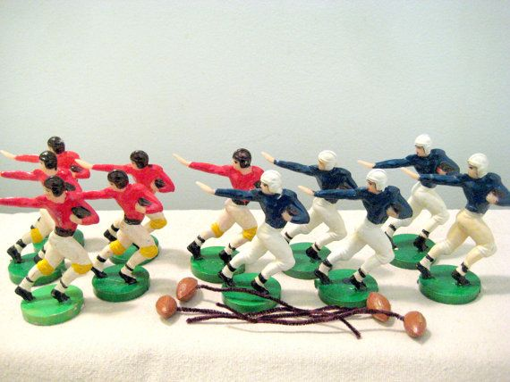 Vintage Cake Decoration Figures, Football Players, NFL, AFL, American Football, for sale on Etsy