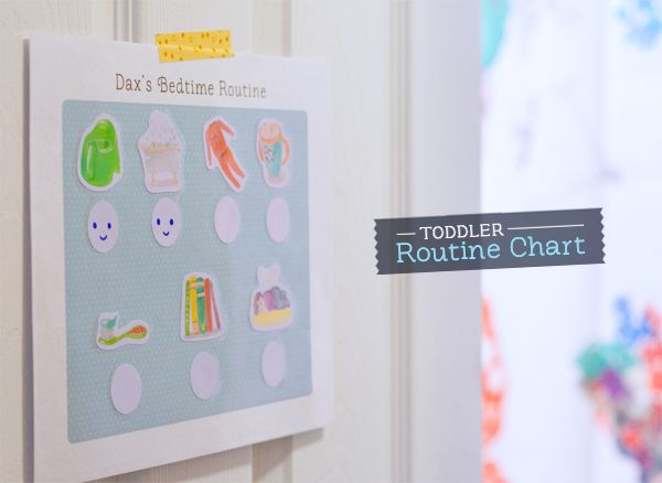 B/c the kids have apparently forgotten the routine weve been doing for YEARS now...Printable Toddler Routine Chart | Hellobee
