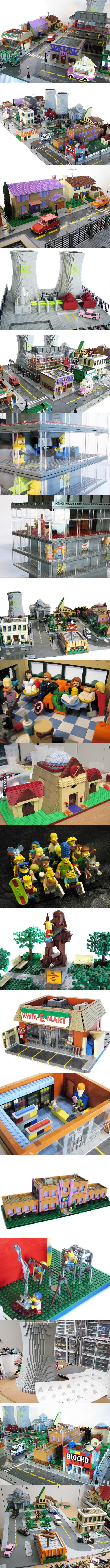 Lego Springfield.. yeah, now I want to build this in minecraft