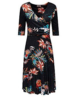Joe Browns Adeles Dress  Chosen for wrap style, V neck and the sleeve length