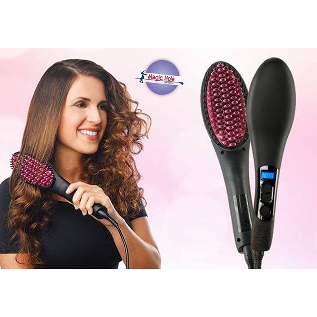 Ίσια & λαμπερά μαλλιά χωρίς κόπο με Κεραμική Ισιωτική Βούρτσα 50 Watt! Μόνο 14,90€