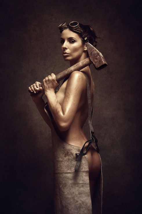 Buy Iron and steel III. - Art Nude, Colour photograph (giclée) by Peter Zelei on Artfinder.