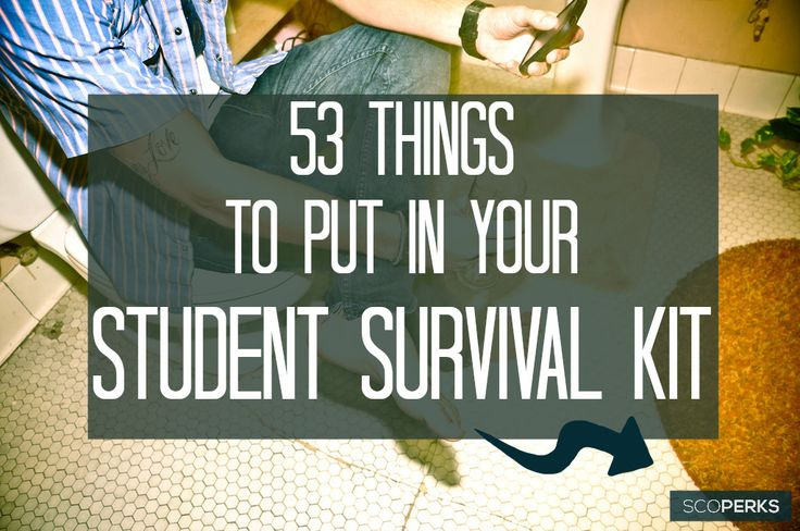 53 Things To Put In Your Student Survival Kit - This would make a great gift to send to any student friends / relatives! If you're just about to leave for University take a look too, you might be missing something.