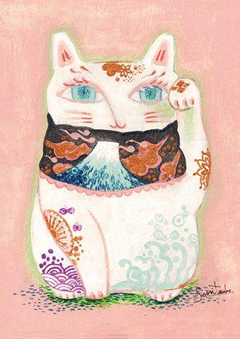 招き猫-富士山-