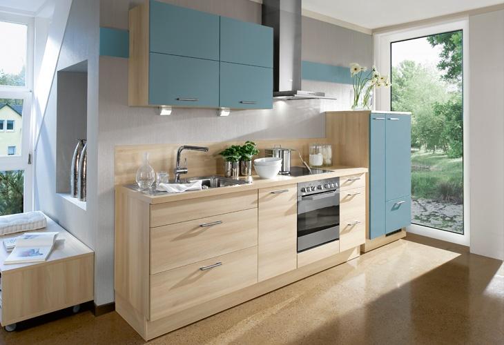 #Küche in Hellblau #Küchenzeile www.dyk360-kuechen.de