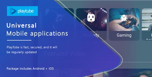CodeCanyon - PlayTube v1.0 - Sharing Video Script Mobile Applications Bundle Android / IOS - 21195362
