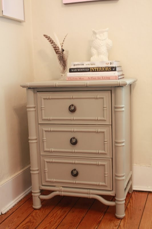 Diy Painted Side Table Furniture Painted Bamboo