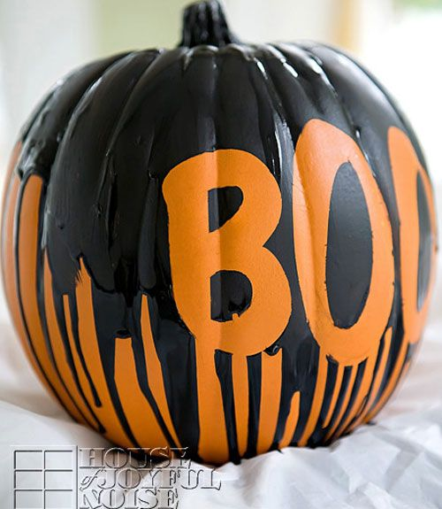 44 creative ideas for no carve pumpkins creative Easy pumpkin painting patterns